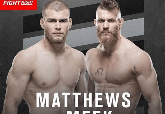 UFC Fighter Jake Matthews Signed His Fight Contract in Blood