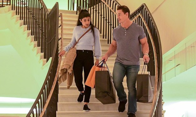 John Cena and Girlfriend Shay Shariatzadeh Get Some Retail Therapy
