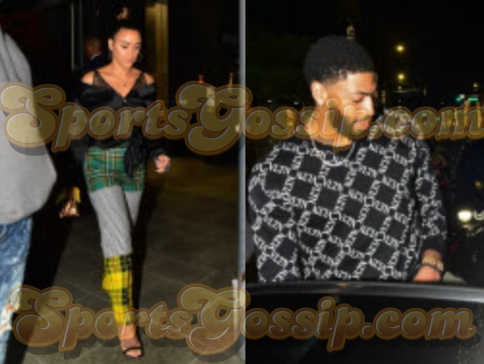 Anthony Davis and his Baby Mama Marlen Dine with LeBron ...