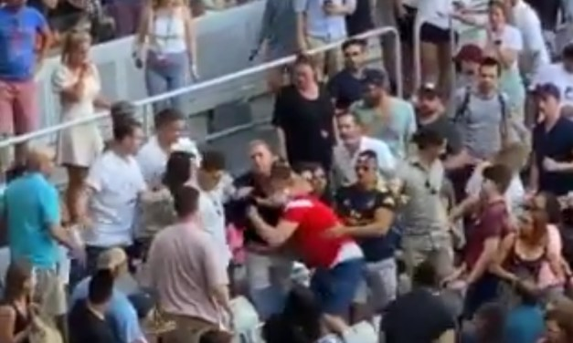 Fans Trade Punches at the Australian Open