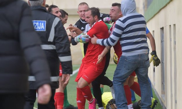 Soccer Player Arrested During Match for Attacking Referee
