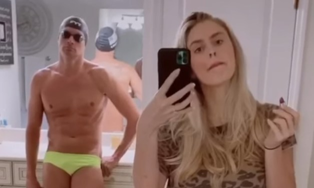 Ryan Lochte's Wife Gets Topless During Flip the Switch Challenge on TikTok