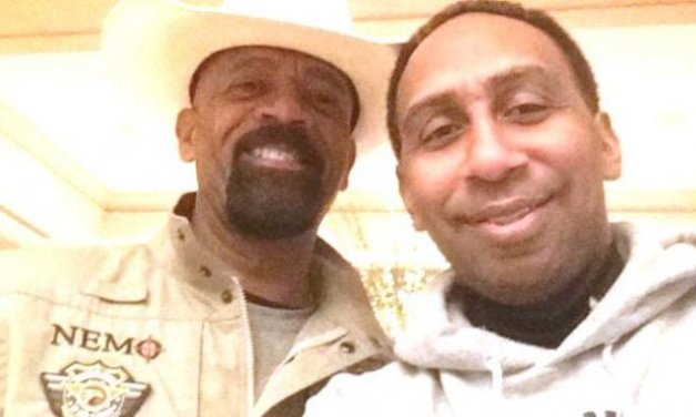 Stephen A. Smith Caught Some Heat For his Picture with Sheriff Clarke