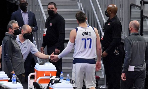 Luka tossed after flagrant, still 1 tech shy of ban