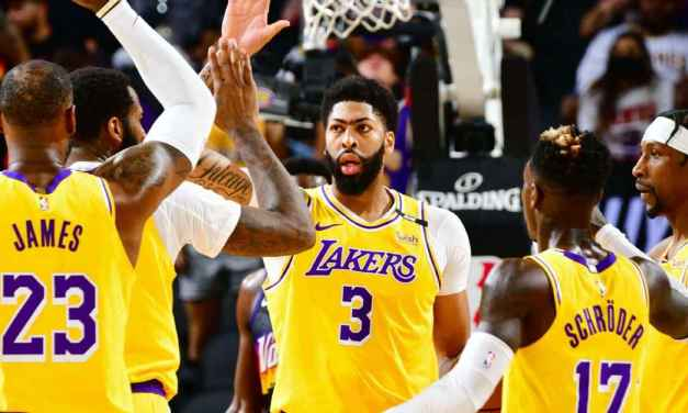 Flurry warning: AD, LeBron propel Lakers to win