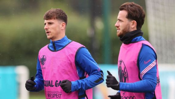 England's Mount, Chilwell out vs. Czech Republic