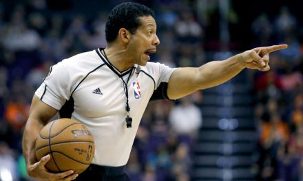 NBA Referee's Aggressive Blocking Foul Call is the Funniest Thing You'll See Today