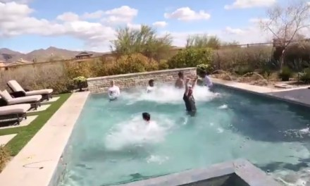 Arizona State Celebrated Their NCAA Tournament Selection by Jumping into a Pool