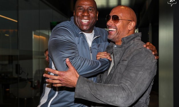 The Lakers Recruit The Rock To Get Them Fired Up