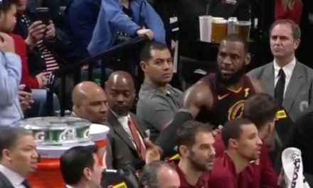 LeBron James Gets in Shouting Match With Tyronn Lue on the Bench