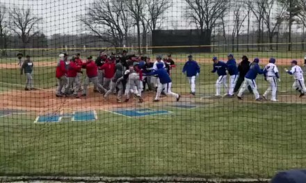 College Baseball Teams Celebrate St. Patrick's Day with a Bench Clearing Brawl