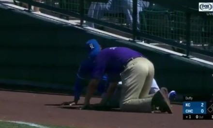 Royals Right Fielder Jorge Soler Took Out a Security Guard Chasing Down a Foul Ball