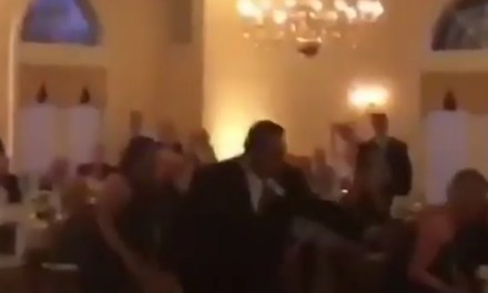 "Eagles Fans Run The ""Philly Special"" with the Bride's Bouquet at their Wedding Reception"
