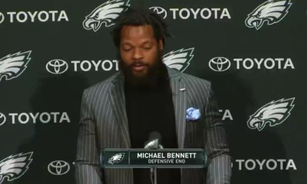 Michael Bennett Was Introduced as an Eagle then Warns All of the NFC East QBs