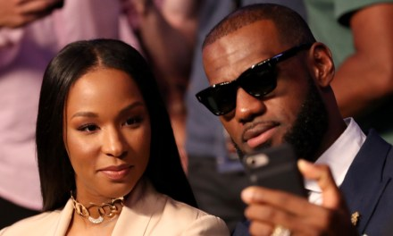 Check out this Painting of LeBron James and His Wife