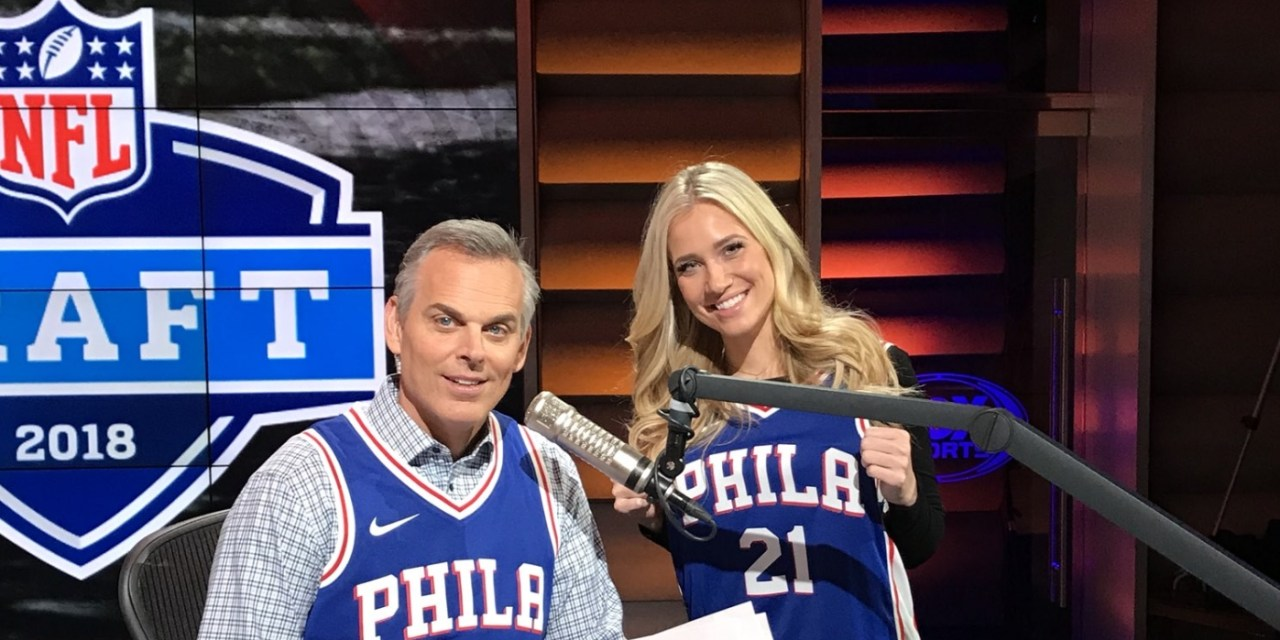 buy popular e51fc 35439 Colin Cowherd Pays Up on 76ers Bet in a Joel Embiid Jersey ...