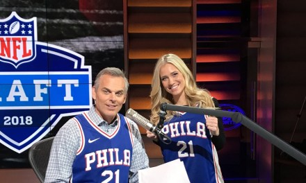 Colin Cowherd Pays Up on 76ers Bet in a Joel Embiid Jersey