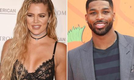 Tristan Thompson Gets in on the Cradling Crazed Khloe Kardashian