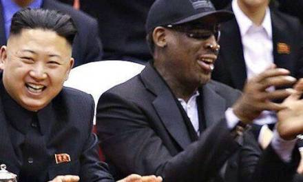 Dennis Rodman Puts His Buddy Kim Jong Un in Trump Merch