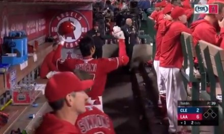 Shohei Ohtani hit his First Career Homerun