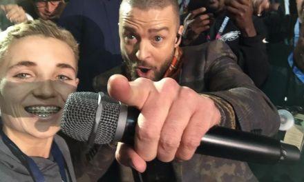 Julian Edelman Hangs with Timberlake and Superbowl Selfie Kid