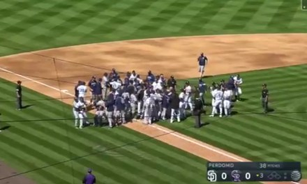 Benches Cleared and Punches Thrown in Colorado after Pitch Thrown Behind Nolan Arenado