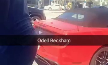 Man Crosses Traffic to Say Hi to Odell Beckham