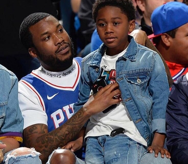 Meek Mill's Son Stole the Show at Sixers Game