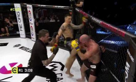MMA Fighter Jack Mason Suffers Gory Gash Above Left Eye
