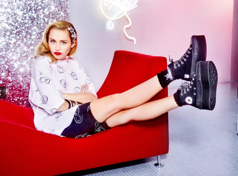 Revealing Miley Cyrus' Collection with Converse