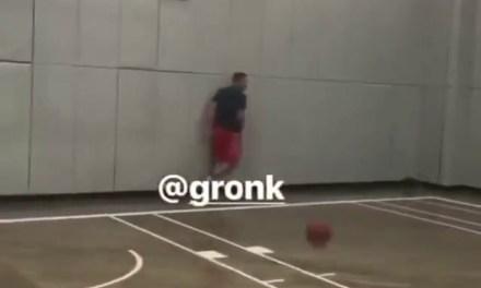 Gronk Can Still Dunk Hard