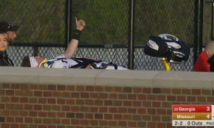 Missouri Outfielder Cade Bormet Stretchered Off the Field After Collision with a Brick Wall