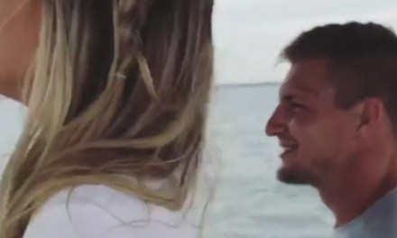 Gronk Tagged Along for Camille Kostek's Photo Shoot