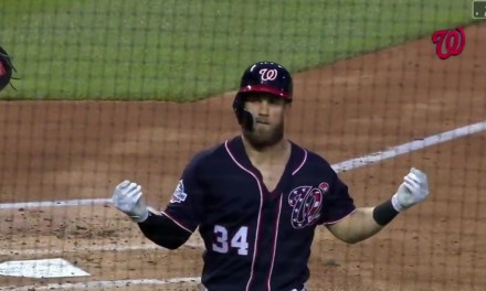 Bryce Harper Celebrated a 473 foot Homerun with a Money Manziel Hand Gesture