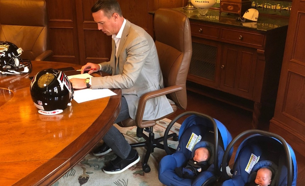 Matt Ryan Brought His Twins With Him to Sign His $169 Million Extension