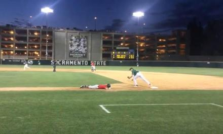 Seattle University Baseball Player Slides Way Too Early Into First Base