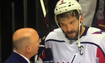 Alex Ovechkin Dropped an F Bomb After Finally Beating the Penguins in the Playoffs