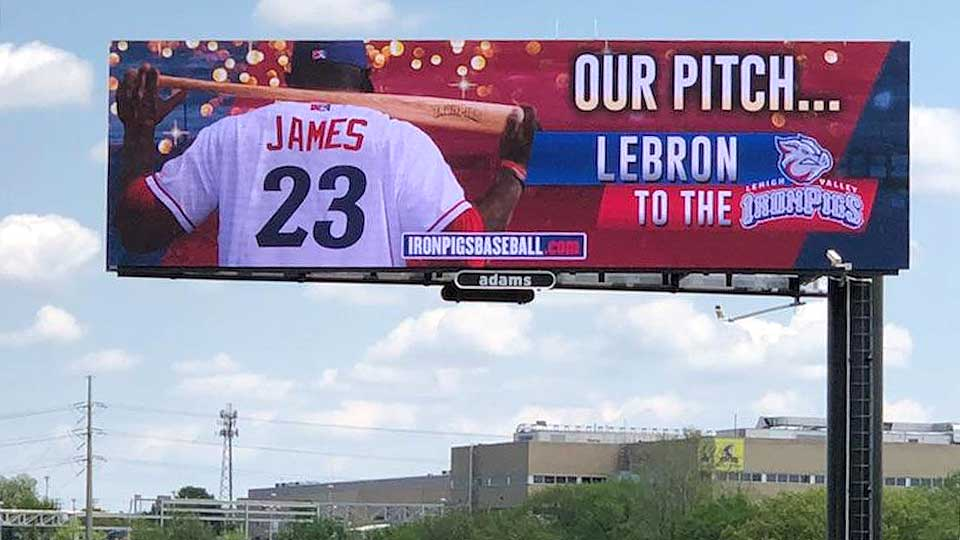 Minor League Baseball Team Makes Interesting Point About LeBron Catching MJ