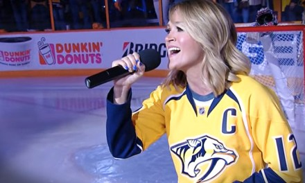 Carrie Underwood Jumps on the Golden Knights Bandwagon and Offers Up Her National Anthem Services