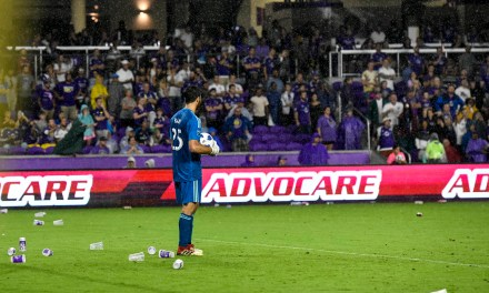 Orlando City Soccer Fans Throw Trash onto Field
