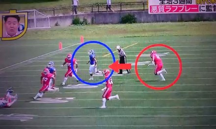 An Extremely Dirty Tackle Straight from the Japanese Football League