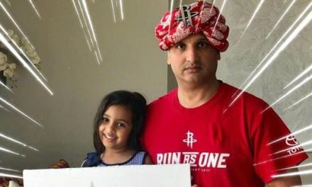 Rockets Fan With The 'I'm Indian, Even I don't Like Curry' Sign Back for Game 2?