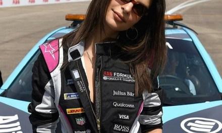 Emily Ratajkowski Becomes First Female Celebrity to Drive Formula E Car