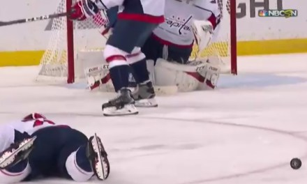 Caps Devante Smith-Pelly Blocked a Shot With His Neck