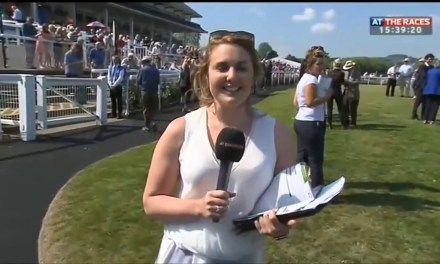 News Reporter Catches A Horse On The Loose At The Racetrack