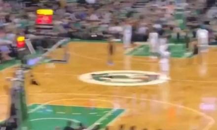 Taylor at Celtics game