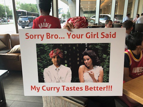 Rockets Fan with the Infamous Signs Took Shot at Steph Curry's Wife