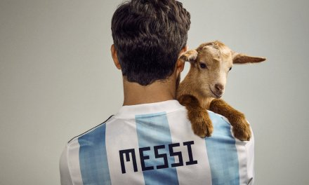 Lionel Messi Poses with Actual Goats for Magazine