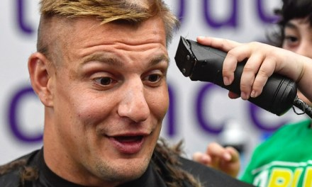 Gronk Got His Yearly Buzz Cut For Charity