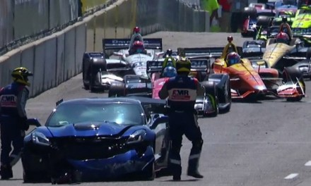 GM's Executive Vice President Mark Reuss Crashes Pace Car Before Race Starts